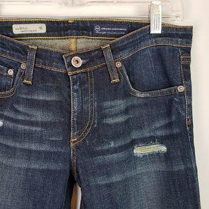 AG Distressed the Stilt Cigarette Leg Jeans 29R